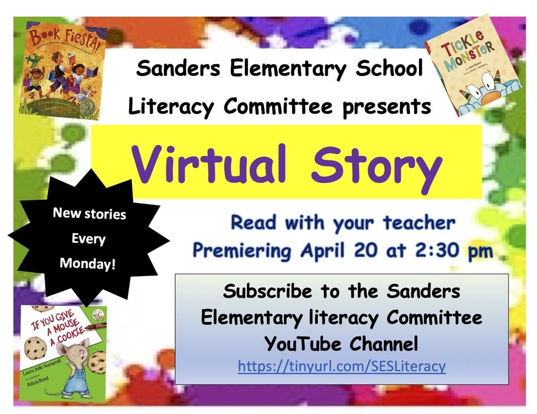 SES Virtual Story Time Poster